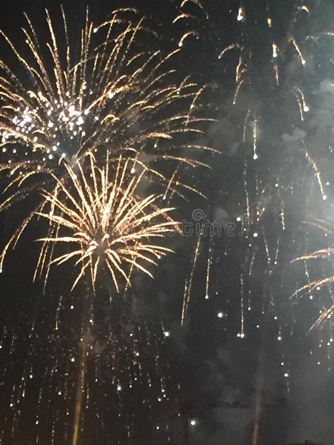 Fourth of July fireworks in Nashville Tennessee royalty free stock photos