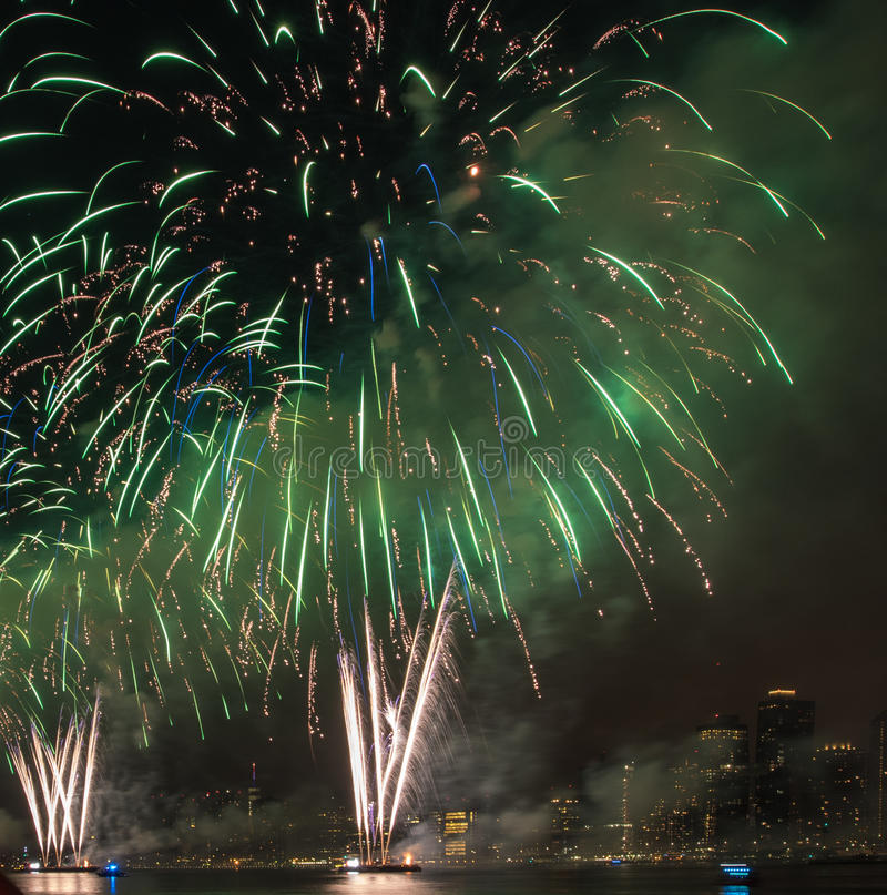 Fourth of July Fireworks New York City stock photo