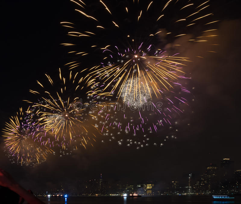 Fourth of July Fireworks New York City royalty free stock photos
