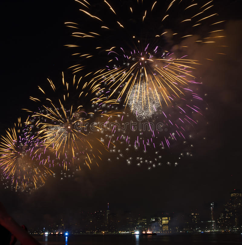 Fourth of July Fireworks New York City royalty free stock photo
