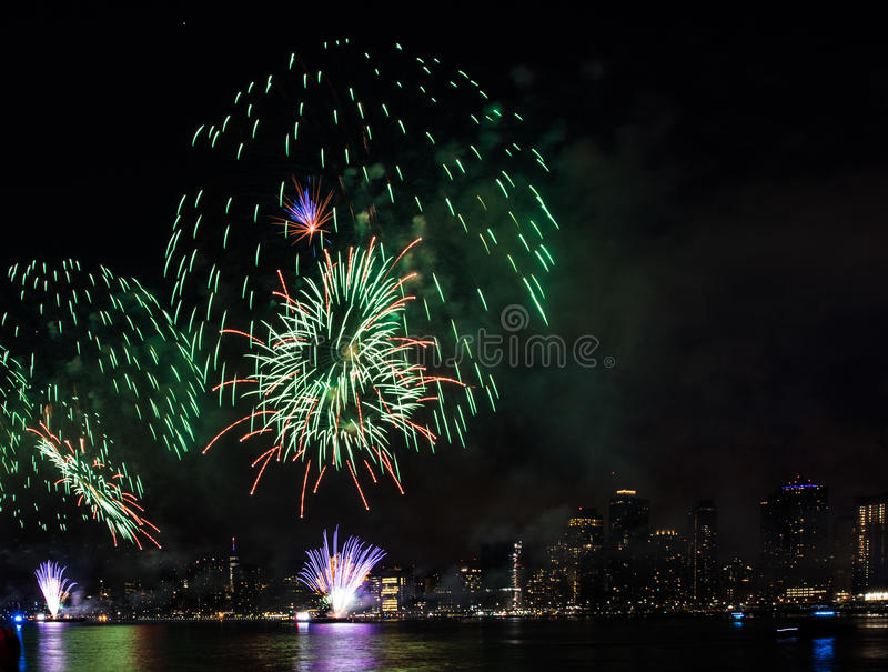 Fourth of July Fireworks New York City royalty free stock photography