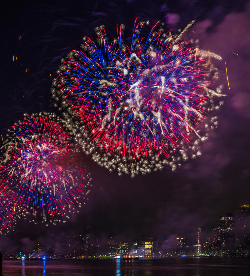 Fourth of July Fireworks New York City royalty free stock images