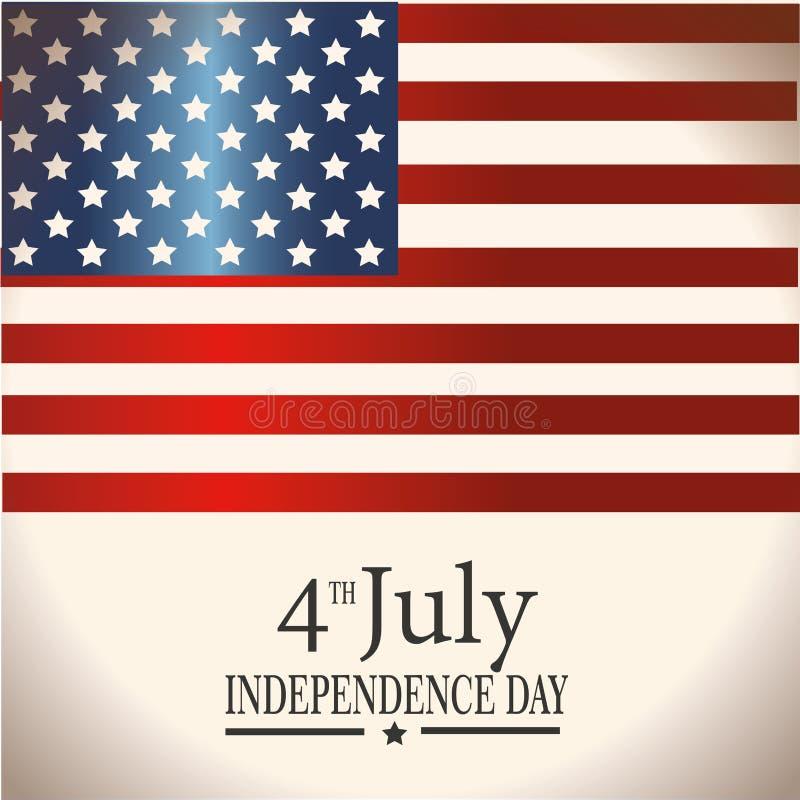 Fourth july flag royalty free illustration