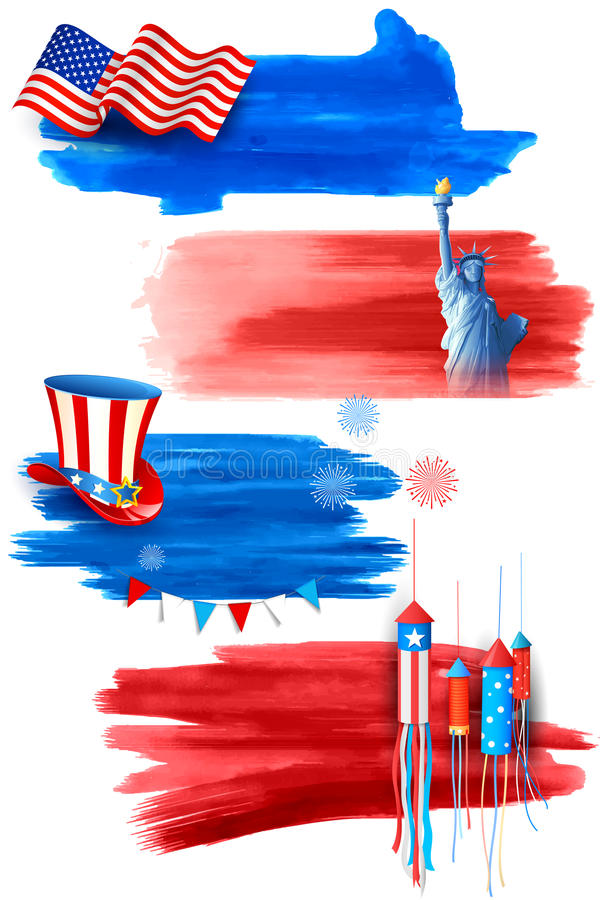 Fourth of July Happy Independence Day America royalty free illustration