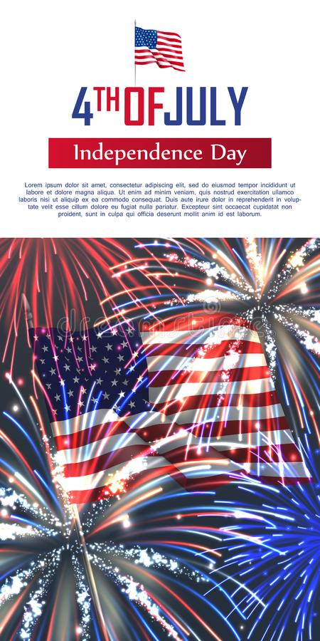 Fourth of July happy independence day. vector illustration
