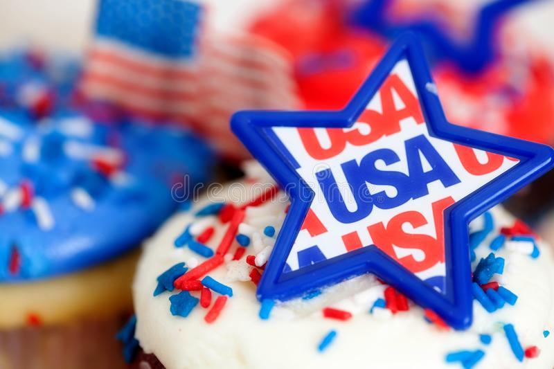 Fourth of July Holiday Decorations and Food royalty free stock photos