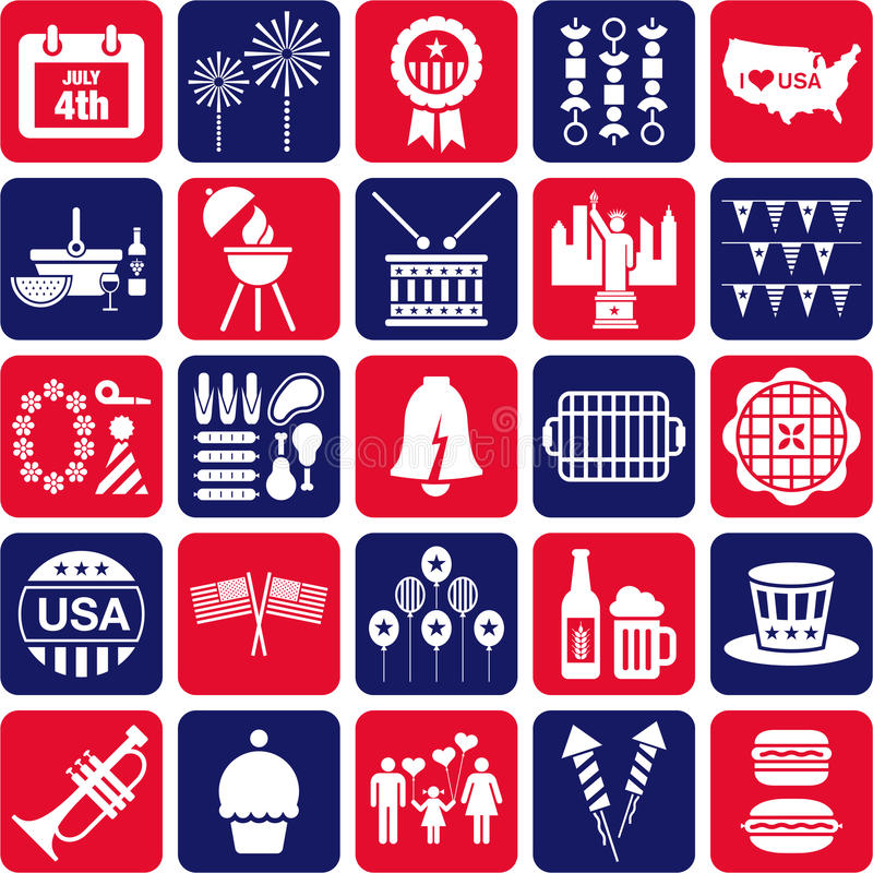 Download Fourth Of July Icons Royalty Free Stock Images - Image: 29224909