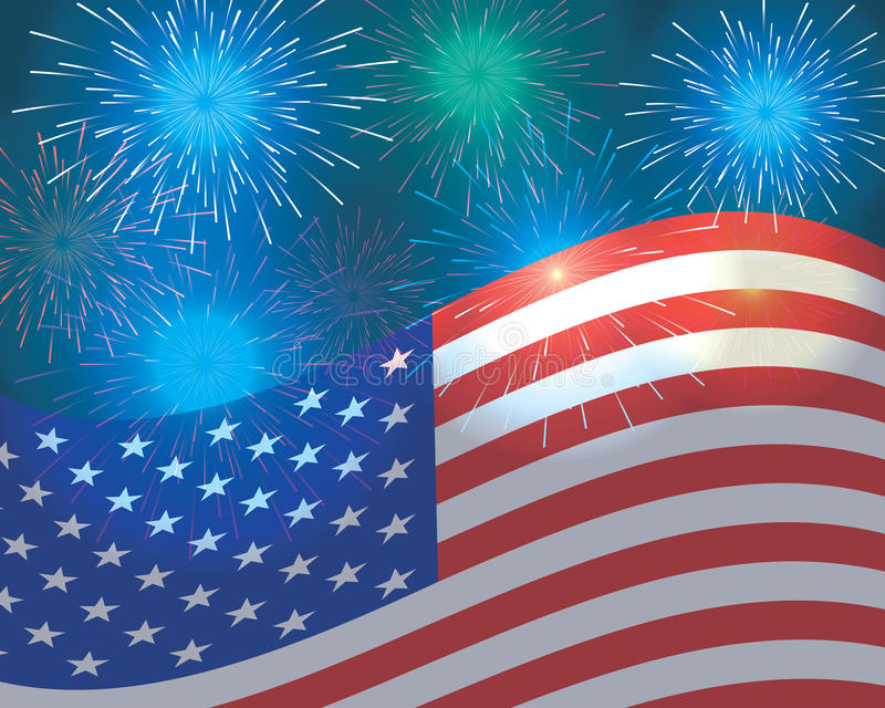 Fourth of July. Independence day background vector illustration