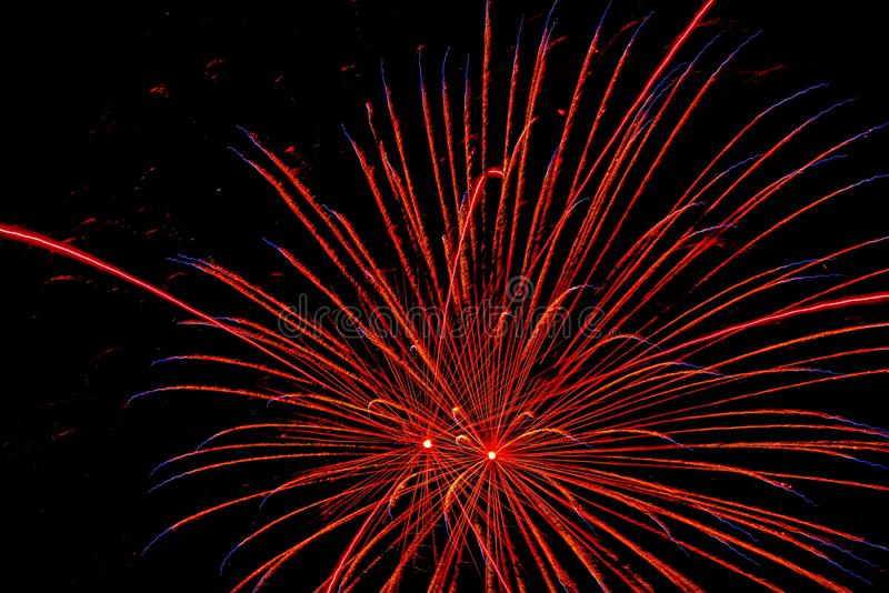 The Fourth of July Independence Day celebration brings out fireworks displays royalty free stock photo