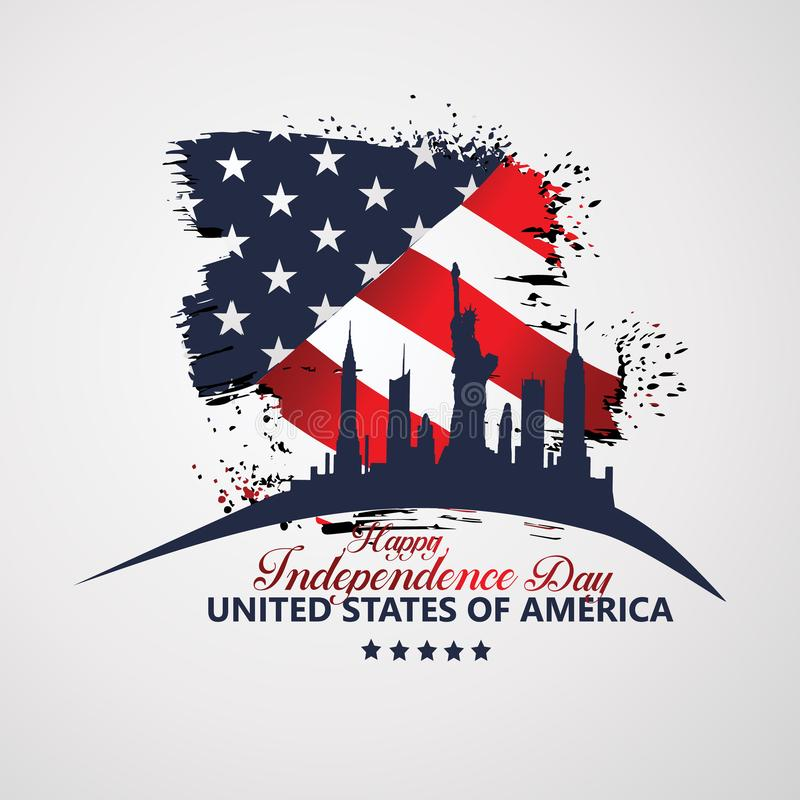 Fourth of July Independence Day, Vector illustration royalty free illustration