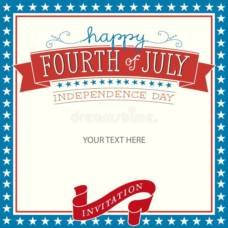 Fourth of July Invitation. Vector illustration stock illustration