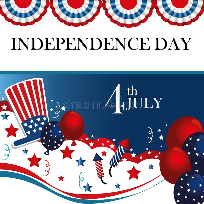 Fourth the july royalty free illustration