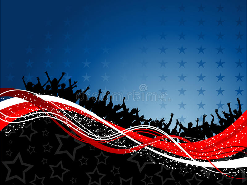 Fourth of july party background royalty free illustration