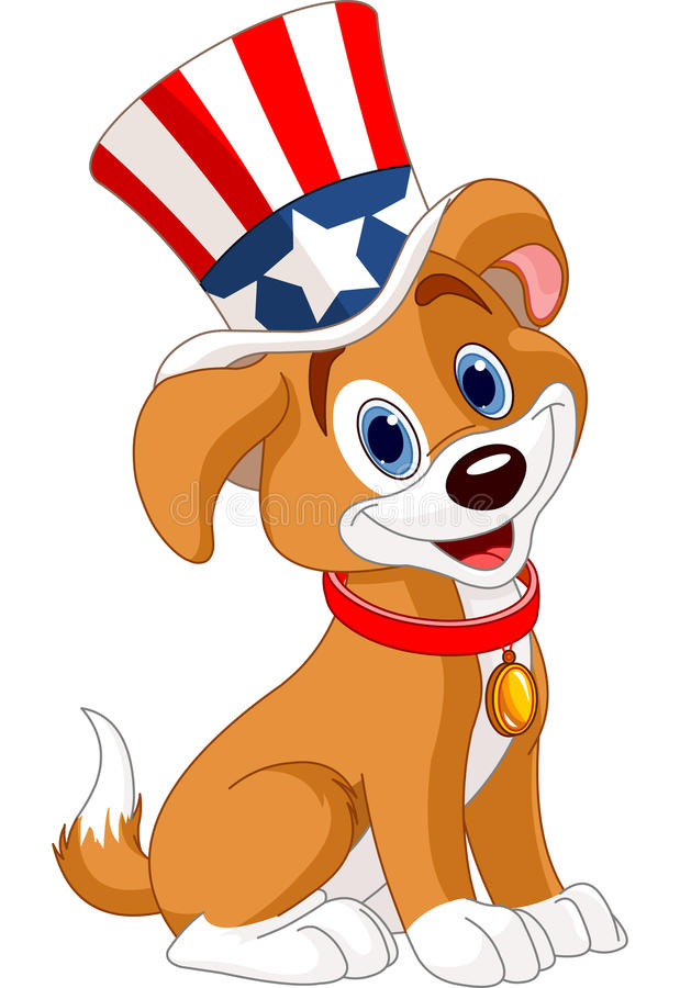 Fourth Of July Puppy Stock Photos