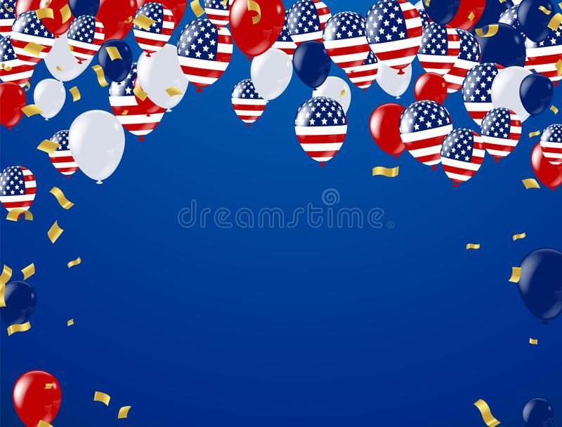 Fourth of July. 4th of July holiday banner, Celebration Banner. royalty free illustration