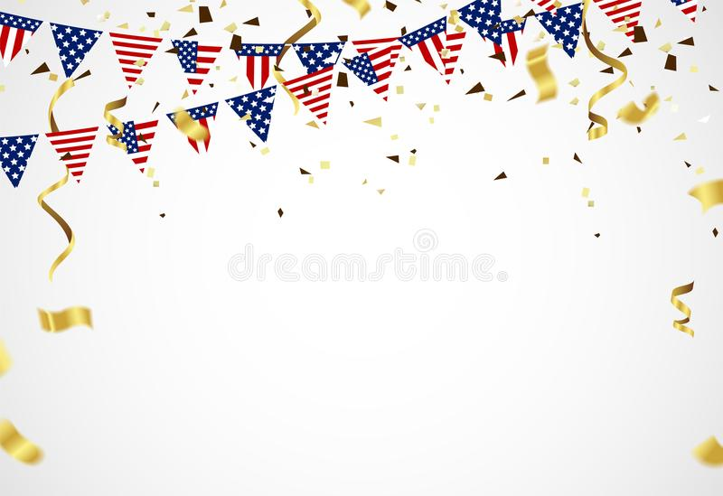 Fourth of July. 4th of July holiday banner. USA Independence Day royalty free illustration