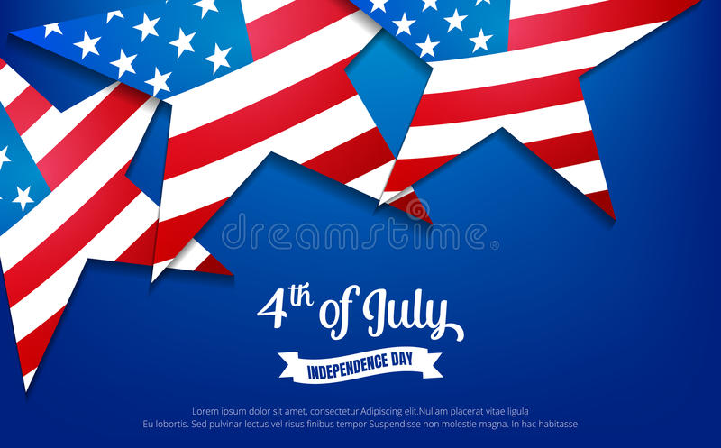 Fourth of July. 4th of July holiday banner. USA Independence Day banner for sale, discount, advertisement, web etc. royalty free illustration