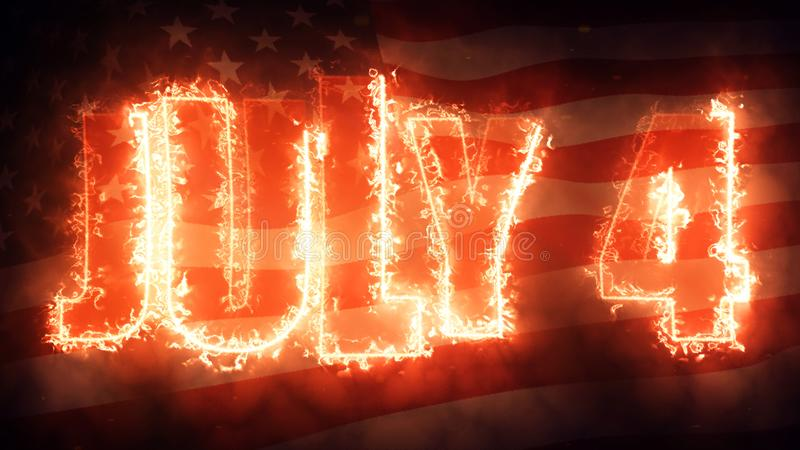 Fourth of July on USA Flag royalty free stock images