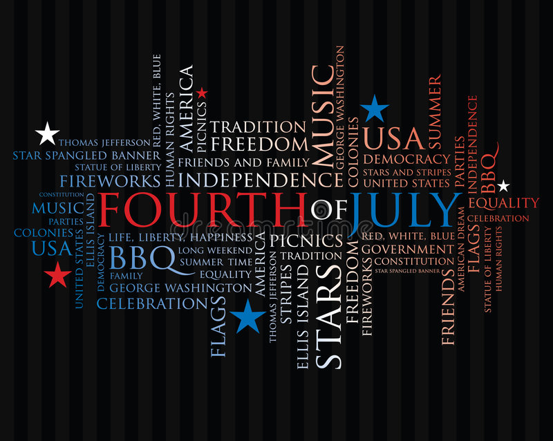 Download Fourth of july words stock vector. Image of government - 4753686