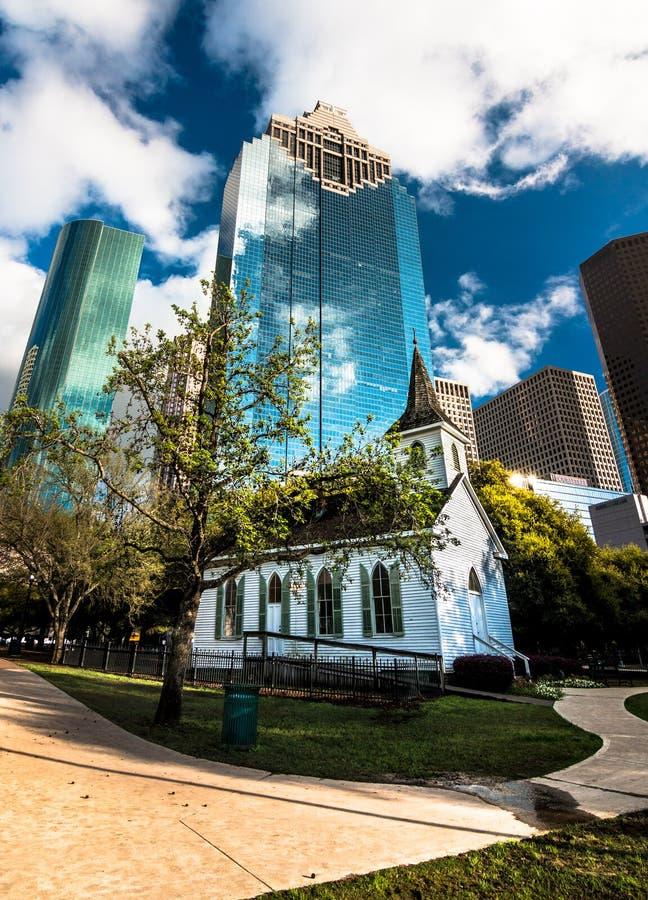 Fourth Odgania chałupę w dziejowym Sam Houston parku obraz royalty free