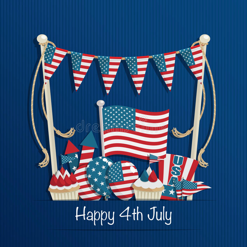 Free Fourth Of July Decoration Stock Image - 41926621
