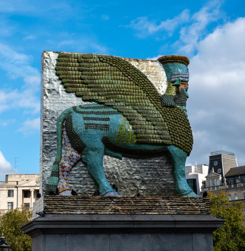 Fourth Plinth Sculpture. London, United Kingdom - October 18 2018: The Sculpture on the fourth plinth of Trafalgar Square between March 2018 and 2020 - an stock images