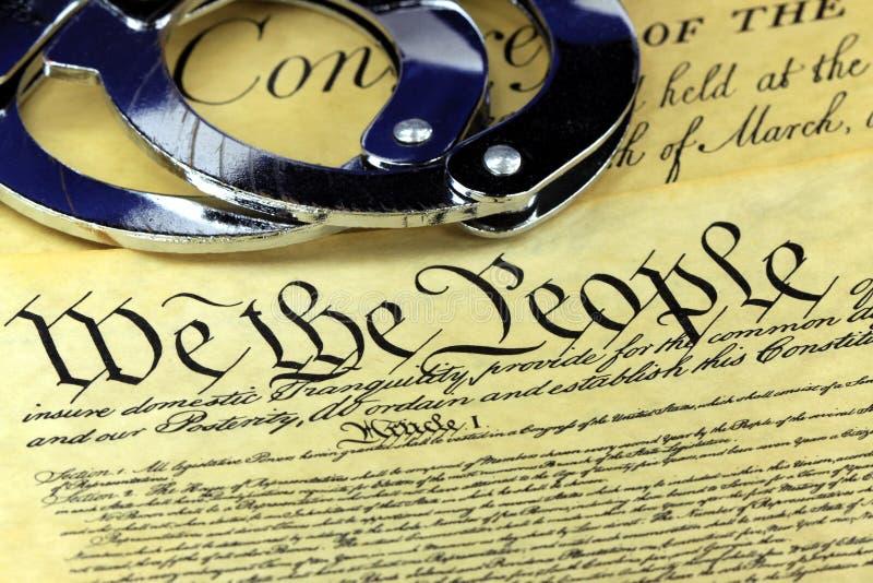 Fourth poprawka Stany Zjednoczone konstytucja zdjęcia royalty free