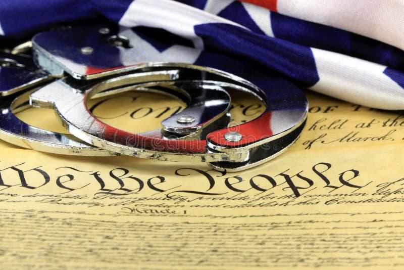 Fourth poprawka Stany Zjednoczone konstytucja zdjęcie stock
