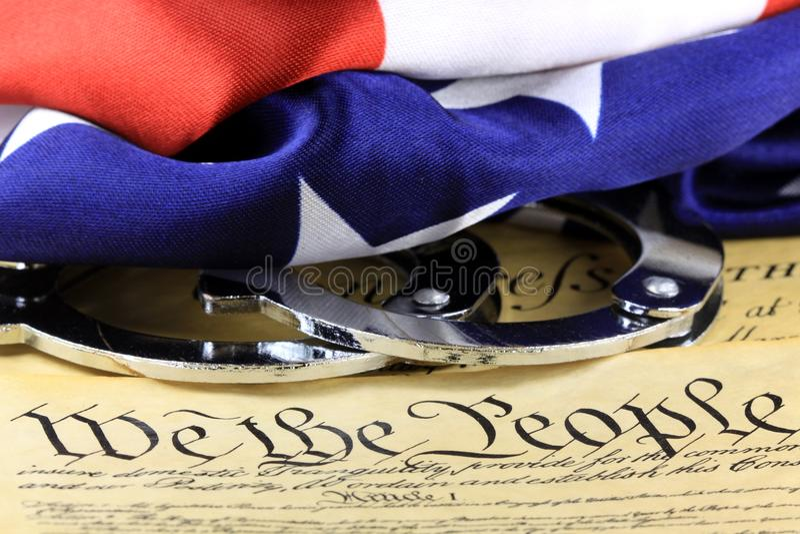 Fourth poprawka Stany Zjednoczone konstytucja obraz stock