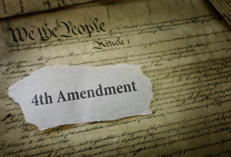 Fourth poprawki pojęcie obrazy stock