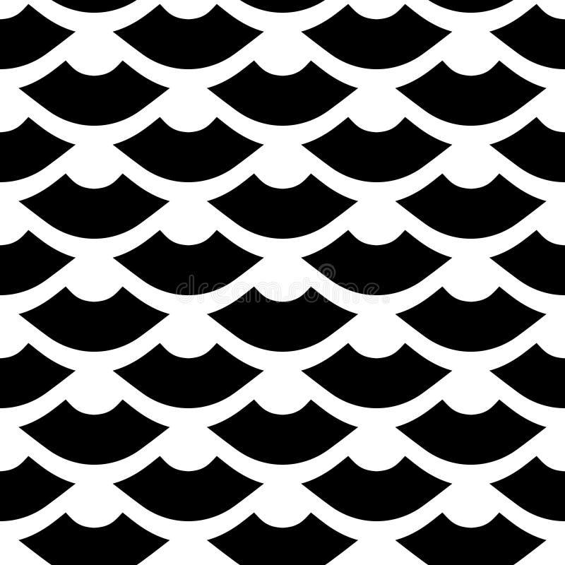 Fourth Tabub Prosty Monochromatyczny Pochylony Bezszwowy wzór royalty ilustracja
