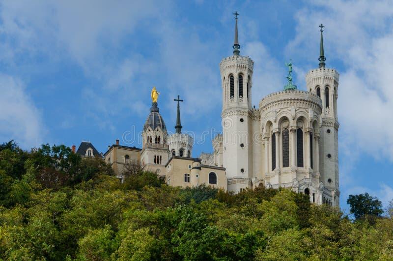 Fourviere-Basilika - Lyon (Frankreich) lizenzfreies stockbild