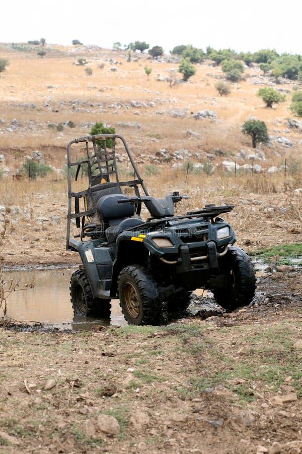 Download Fourwheeler in the desert stock image. Image of desert - 10523259