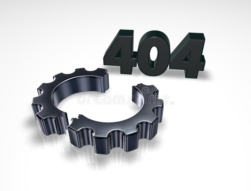 Fout 404 stock illustratie