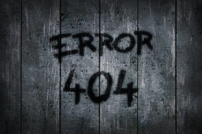 Fout 404 vector illustratie
