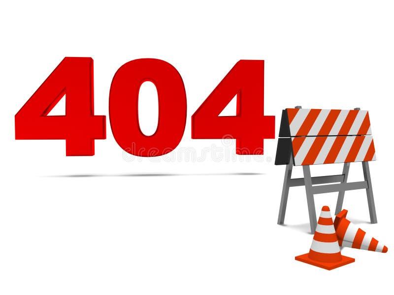 Fout 404 van de computer stock illustratie