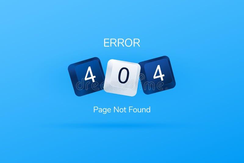 Fout 404 pagina gevonden niet malplaatje voor website 404 geschreven met computerknopen De sleutels van het computertoetsenbord V vector illustratie