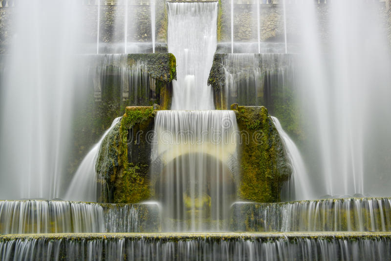 Foutain with flowing water royalty free stock photography