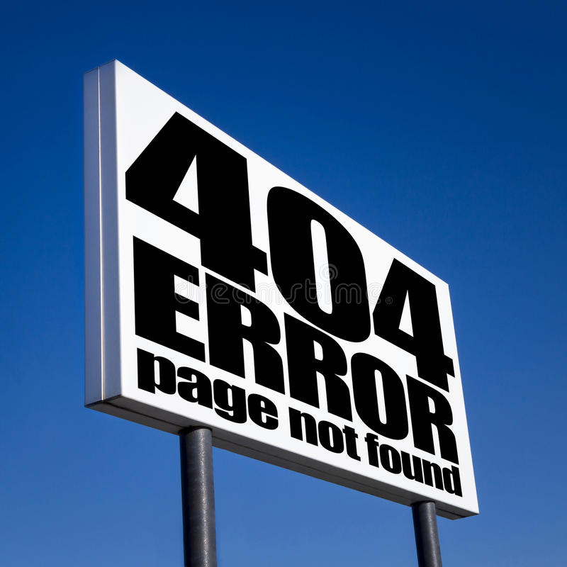 404 foutenpagina royalty-vrije stock fotografie