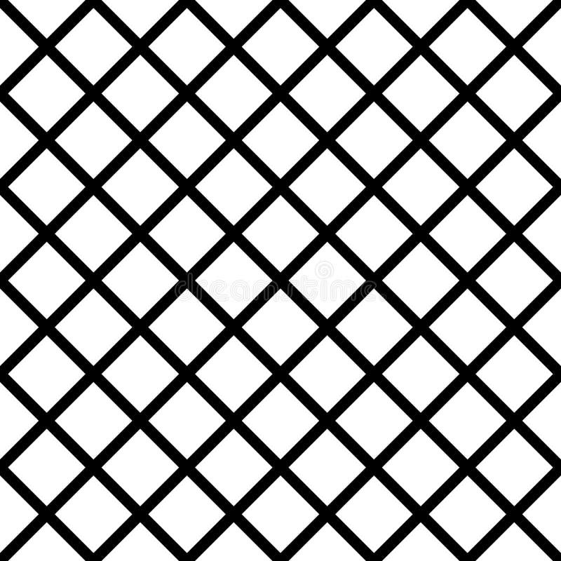 Foutloos herhaalbaar net, netwerkpatroon Eenvoudig rooster, grilla vector illustratie