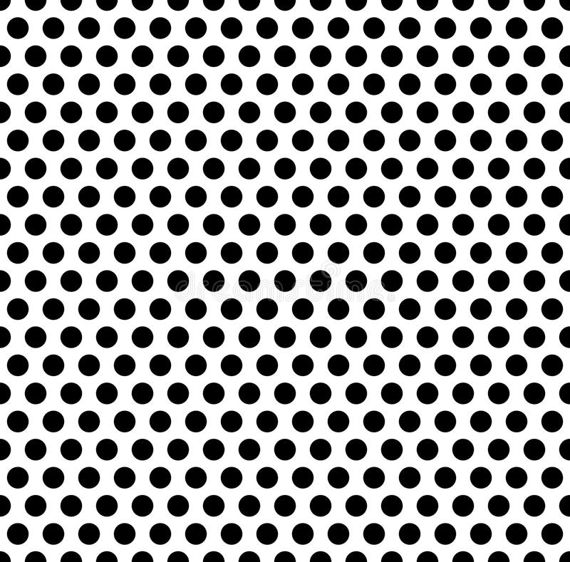 Foutloos herhaalbaar patroon met punten, cirkels Zwart-wit abs stock illustratie