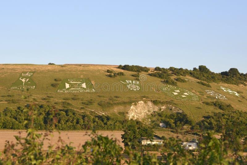 Fovantkentekens dichtbij Salisbury, Wiltshire, Engeland royalty-vrije stock afbeelding