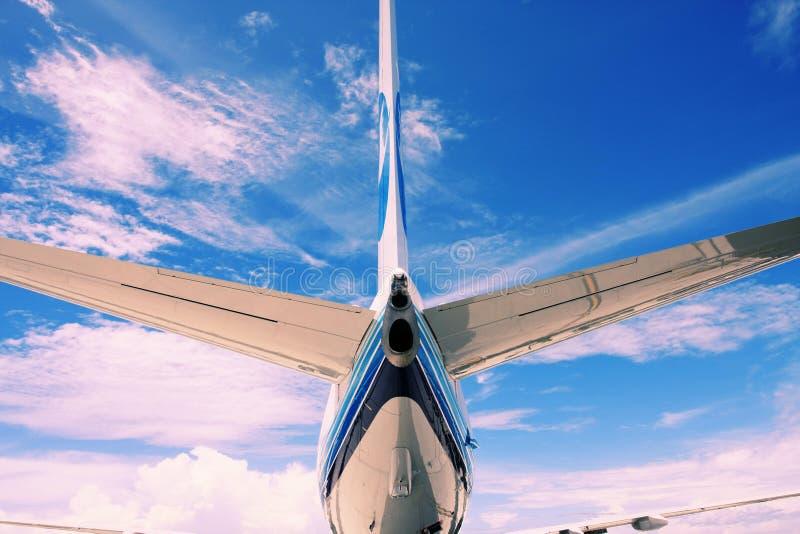 FOvliegtuig van de staart stock fotografie