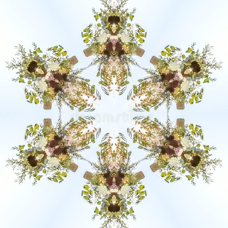 fowers设计到与许多用途的花卉形状里 向量例证