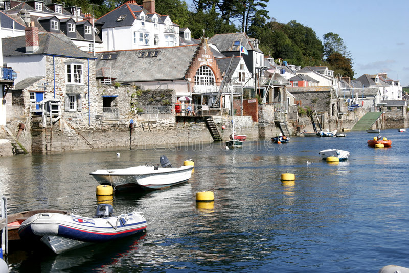 Fowey harbour, Cornwall stock image