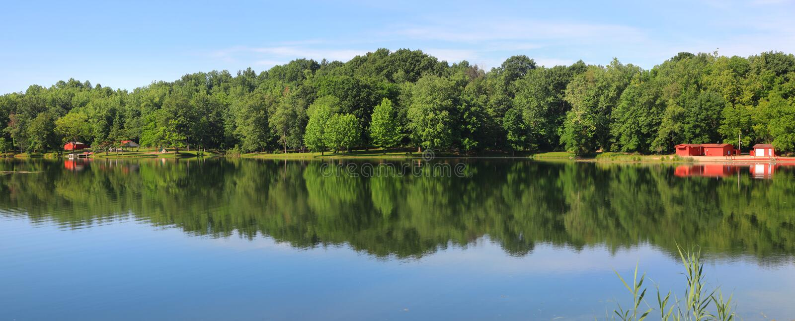 Fowler park. Keith Rubble lake in Fowler park in Indiana royalty free stock photography