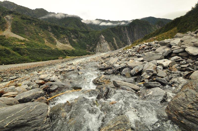 Fox冰川,新西兰风景 图库摄影