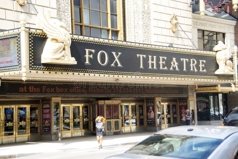 Fox剧院,圣路易斯密苏里 免版税库存图片