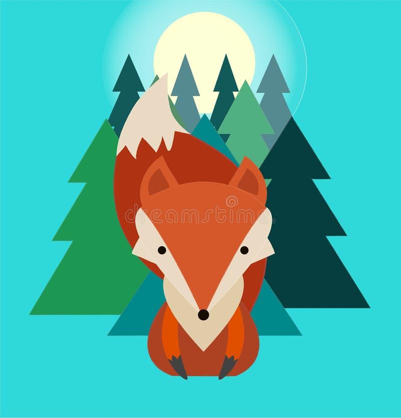 Fox在森林里 免版税库存照片