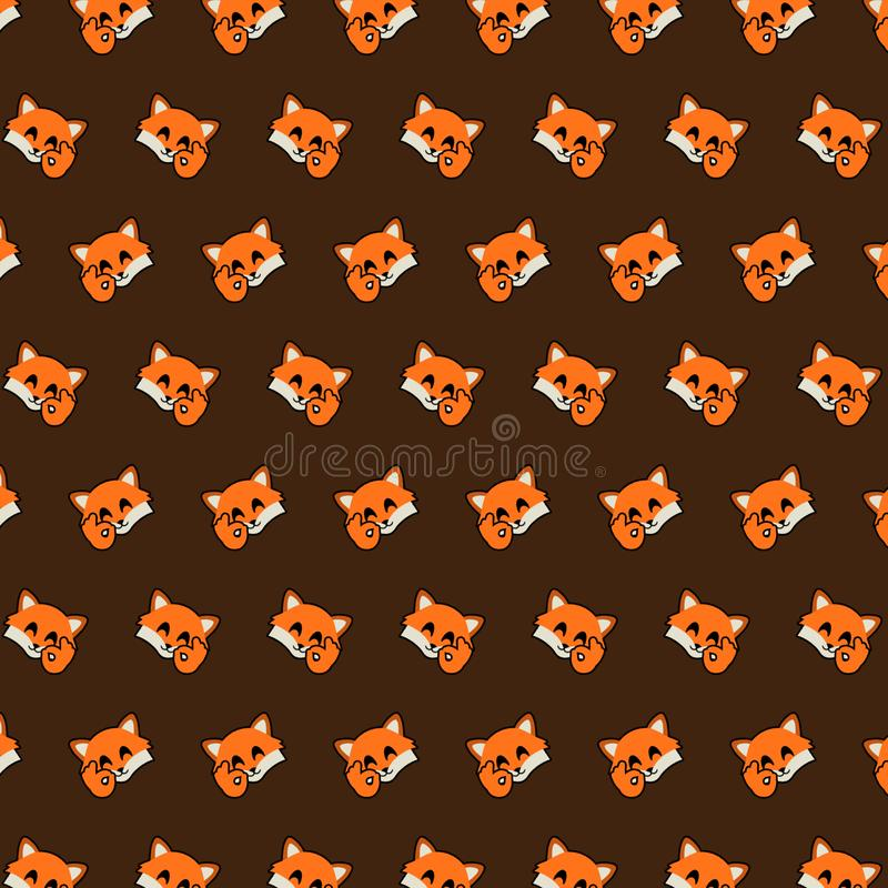 Fox - картина 10 emoji иллюстрация вектора
